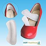 Fascia di protezione per retro tallone, in pelle morbida, da applicare alla scarpa per evitare sfregamenti, confezione da 2paia