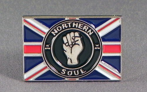 Soul Rebel Farbe (Anstecker, Metall, Emaille, Northern Soul-Flagge (Union Jack) mit Faust)