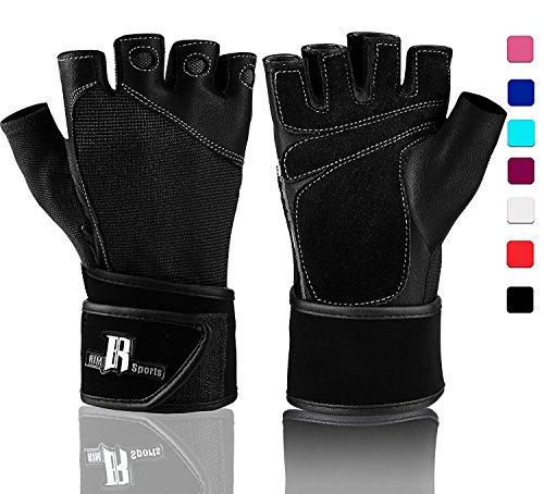 Levantamiento de pesas guantes con muñequera–mejores guantes de levantamiento–Premium guantes de guantes...