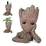 YUYOUG yoyoug Blumentopf Groot Cartoon Blumentopf Baby Action Figuren Guardians of The Galaxy Grün Pflanzen Blumentopf mit Loch Stifthalter Best Geschenke für Kinder