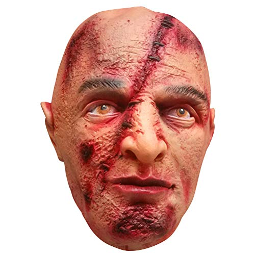 (BESTOYARD Halloween Masken Walking Dead Narbe Gesicht Vollkopfmaske Halloween Kostüme Halloween Party Favor)