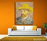 #5: JunkYard Canvas Painting -Self Portrait with Straw Hat - Vincent van Gogh - Canavas Art
