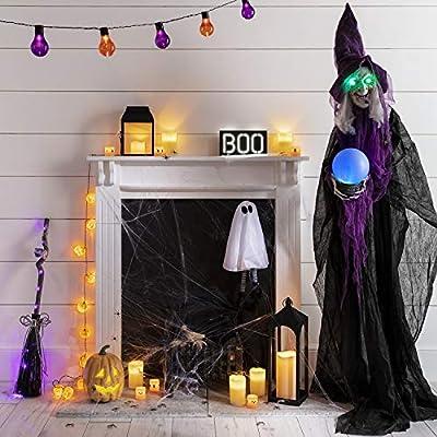 6 Set Halloween LED Mini Kerzen orange schwarz Lights4fun