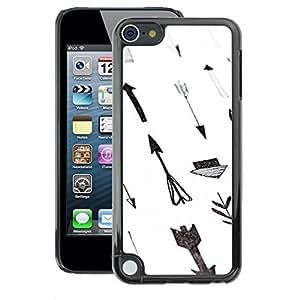 Planetar® ( Paper Hand White Gray Deep ) Apple iPod Touch 5 Handyhülle Schale Hart Silikon Hülle Schutzhülle Case