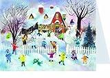 Telecharger Livres Mini calendrier de l avent de Noel Cartes 105 x 155 mm vierges avec enveloppes Richard Sellmer Verlag RS 785 enfants jouant dans la neige 40094 Design Allemand traditionnel (PDF,EPUB,MOBI) gratuits en Francaise