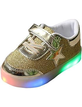 BOZEVON LED Scarpe Lampeggiante Luminosi Sneakers bello Bambino Unisex Ragazzo e Ragazza, 4 colori