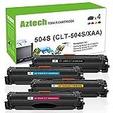 Aztech 4 Pack Kompatibel für Samsung CLT-K504S CLT-504S CLT-P504C Toner für Samsung Xpress C1860FW C1810W C1860FW CLP-415 CLP 415 CLP-415N CLP-415NW CLX 4195 FW CLX-4195N CLX-4195FN 4195FN CLX-4195FW