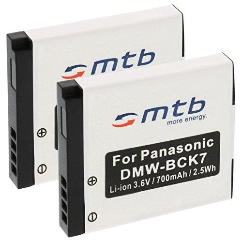 2x Akku DMW-BCK7 für Panasonic Lumix DMC-FP5, FP7, FT20, FT25, FS16, FS18, FS22, FS28... s. Liste!