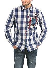 Desigual Herren Regular Fit Freizeit Hemd CAM_NOVAIN_RETRO