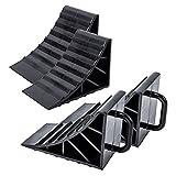 ProPlus Unterlegkeil Kunststoff schwarz 4er Set mit Griff für Wohnwagen, Wohnmobil und Anhänger