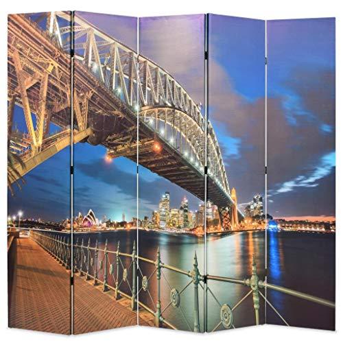 binzhoueushopping Paravientos Plegable 200x 180cm impresión Harbo
