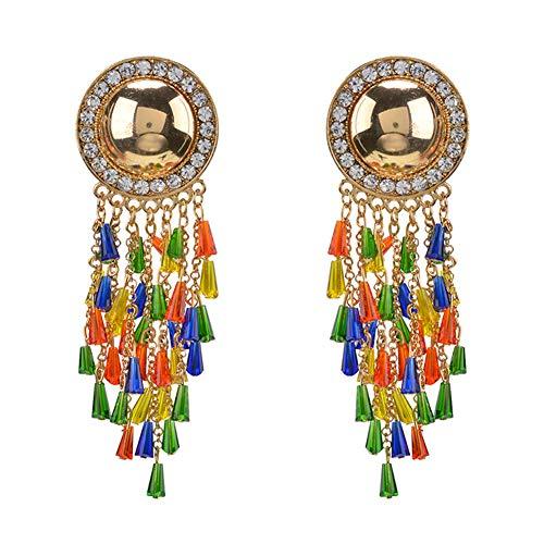 Grandi orecchini esagerati di tendenza occidentale orecchini in lega di diamante di alta qualità orecchini originali orecchini nappa retrò,, hlh hlh