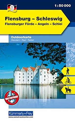 Outdoorkarte 09 Flensburg - Schleswig 1 : 50.000: Wandern, Rad, Reiten.Flensburger Förde, Angeln, Schlei (Kümmerly+Frey Outdoorkarten Deutschland, Band 961) (Rad 09)