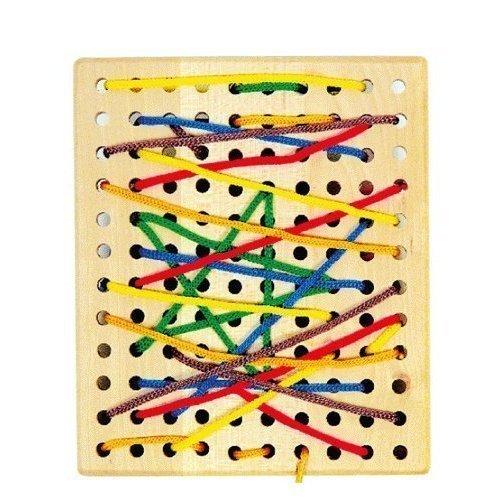 Threading Board by Amazing child Montessori (Holz-threading)