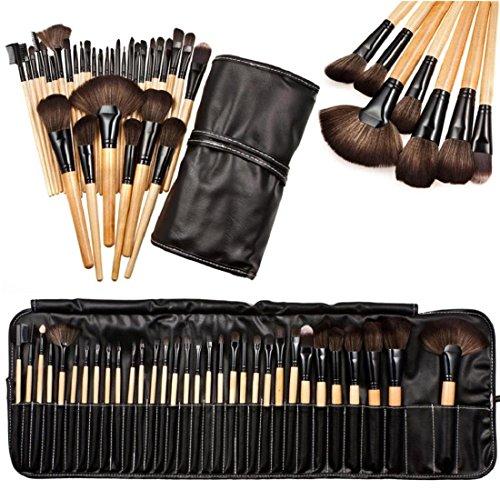 Oyedens 32pcs Brosse De Maquillage Ombre à Sourcils CosméTiques Doux Professionnelle Mis En Kit + Sac Pochette