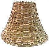 """RDC 9"""" Round Slanting Cane Hanging Pendant Lamp Shade"""