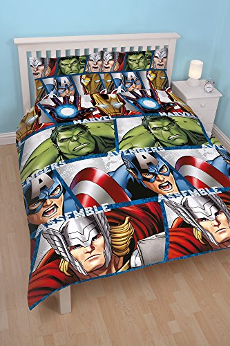 character-world-double-disney-marvel-avengers-shield-rotary-duvet-set-multi-colour