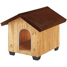 Feplast 87002000 Caseta de Exterior para Perros Domus Medium, Robusta Madera Ecosostenible, Pies de