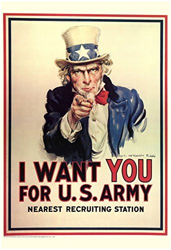 i-want-you-for-us-army-uncle-sam-wwii-war-propaganda-art-print-poster-13-x-19in-by-hse