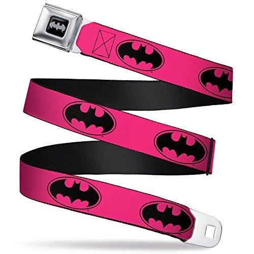 Buckle Down Kids' DC Comics Pink Batman Seat Belt Buckle Belt