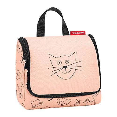 Reisenthel toiletbag S Kids Kulturtasche, 18 cm, 1.5 L, Cats and Dogs Rose