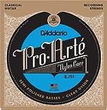 D'Addario EJ51 Satz Nylonsaiten mit höchster Qualität für Konzertgitarre - Hard Tension
