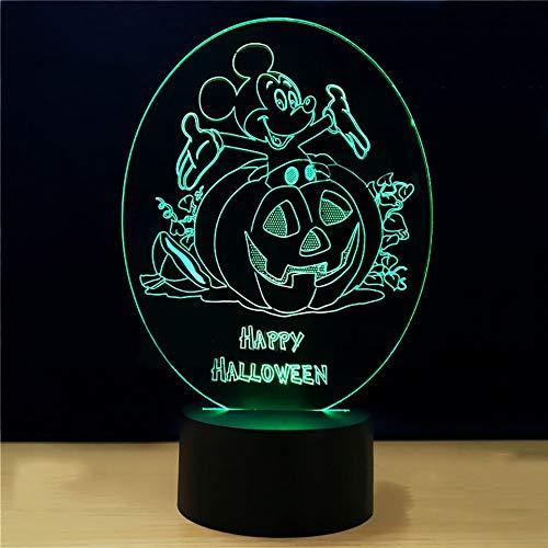 Maus Kürbis Form Schreibtischlampe 7 Farben Led Atmosphäre Lampe Kinder Schlafzimmer Leuchte Decor Cartoon Halloween Geschenk ()