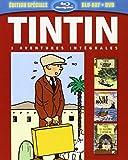 Tintin - 3 aventures - Vol. 2 : L'ïle noire + L'oreille cassée + Le Sceptre d'Ottokar [Combo Blu-ray + DVD]
