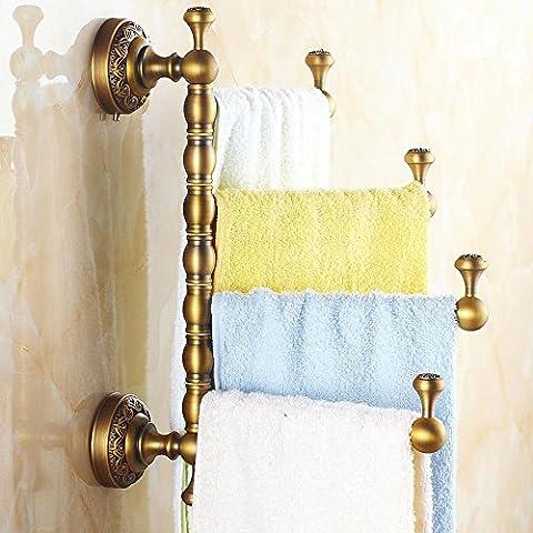 KHSKX Europea, oggetto d'antiquariato-rotazione, asciugamano barra ottone fonderia, spessi asciugamani