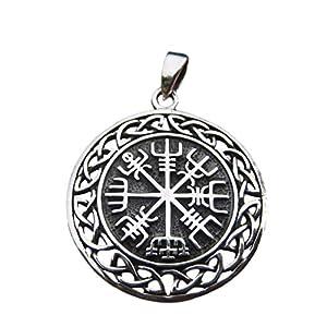 925 Silber Viking nordisch celtic Trident Anhänger Halskette Schmuck Art A17