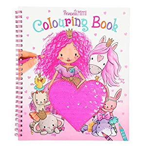 Depesche 10839 - Libro para Colorear con Lentejuelas, Princess Mimi, Aprox. 20,5 x 24 x 1,5 cm, Multicolor