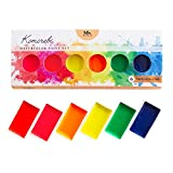 Komorebi japanisches Aquarellfarben Set – 6 Aquarell Wasserfarben mit Neon Farbtönen – Aquarellmalerei Farben für Künstler, Anfänger und Profis – mit sehr hoher Pigmentierung – MozArt Supplies