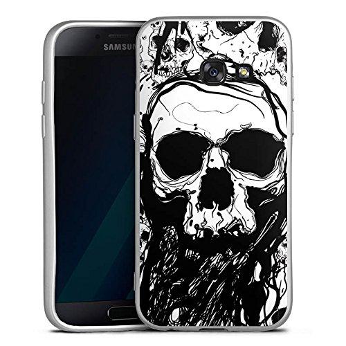 17 Silikon Hülle Silber Case Schutzhülle Totenkopf Skull Halloween (Wackelt Halloween 2017)