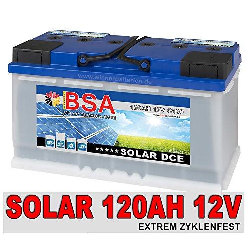 Preisvergleich Produktbild Versorgungsbatterie 120Ah 12V Solarbatterie Wohnmobil Mover Boot Batterie 100Ah