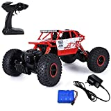 #10: MousePotato Rock Crawler Off Road Race Monster Truck 4WD 2.4GHz, Red