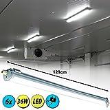 6er Set SMD LED 36 Watt Industrie Wannen Decken Leuchten Feuchtraum Lampen neutralweiß für 6er Set SMD LED 36 Watt Industrie Wannen Decken Leuchten Feuchtraum Lampen neutralweiß
