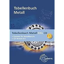Tabellenbuch Metall XXL CD: Tabellenbuch, Formelsammlung und CD Tabellenbuch Metall 9.0