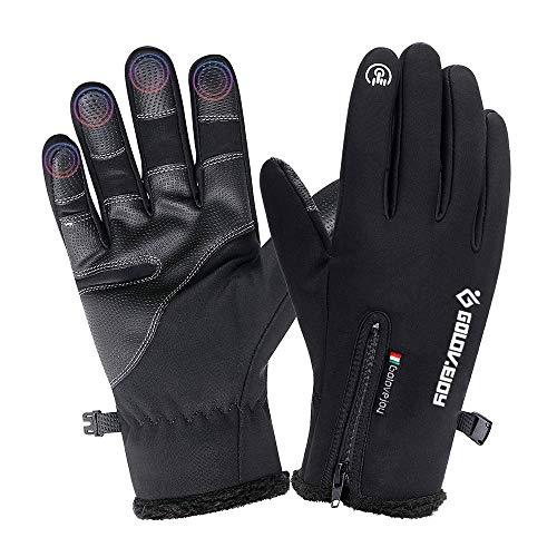guanti impermeabili COSYINSOFA Guanti Moto Impermeabili Touchscreen Guanti da Escursionismo da Campeggio per Ciclismo