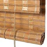 Bambusrollo, Bambus-Rollos in Natur-, Fenster-Roll-Ups Leichte Filterschirme mit Seitenzug und Volant (größe : 120×140cm)