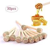 Gudotra 30 Pezzi 8CM Bastoncini per Miele in Legno Cucchiai per Miele per Vaso di Miele Jar