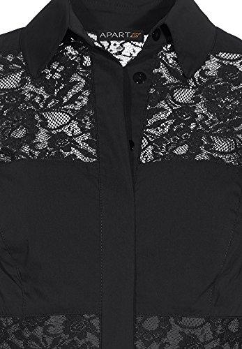 APART Fashion - 21719, Vestito Donna Nero (Schwarz)