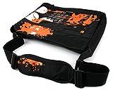 DURAGADGET Schwarze Laptoptasche mit orange-grauem