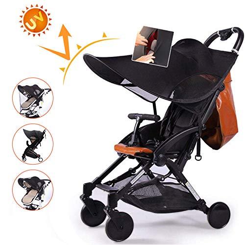 Auvstar capottina parasole per passeggino e carrozzina,neonato passeggino parasole passeggino,protezione solare,telo anti-uv, universale e di facile installazione,adatta per esterni viaggi