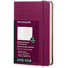 Moleskine 11406 - Agenda 18 meses, 2015-2016, semanal, tamaño bolsillo, color morado malva