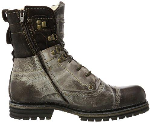 Yellow Cab Herren Sergeant M Biker Boots Braun (Dark Brown)
