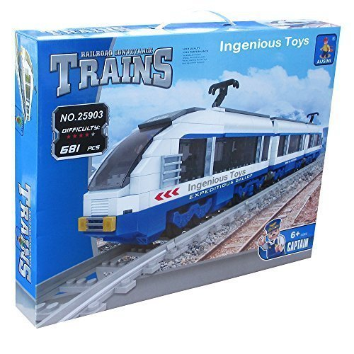 Electric-Express-Train-Set-City-Railway-Station-Creator-11pcs-Tracks-25903
