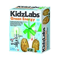 Jardines Online Warehouse Fun little project - No 1 Selling Birthday Gift for Boys & Girls Age 8+ KidzLabs - Green Energy