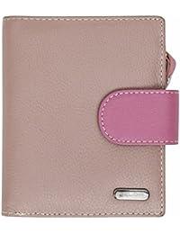 Damen Geldbörse aus weichem Echtleder - 10 Kartenfächer - RFID-Blocker - Mehrfarbig