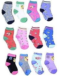 ISAKAA Baby Boys and Baby Girls 12 Pairs of Socks (1-2 Years (S))