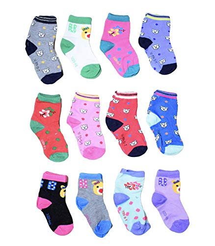 Isakaa Baby Boy's and Girl's Fleece and Fairy Cotton Socks (1-2 Years) Pack of 12 Pairs